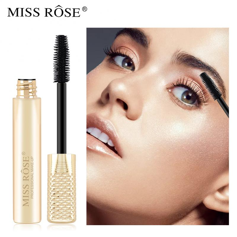 1pcs 4d Silk Fiber Mascara Waterproof Easy To Dry Long Lasting Long Eyelash Makeup Mascara Black Thick Eyelash Cosmetics TSLM1