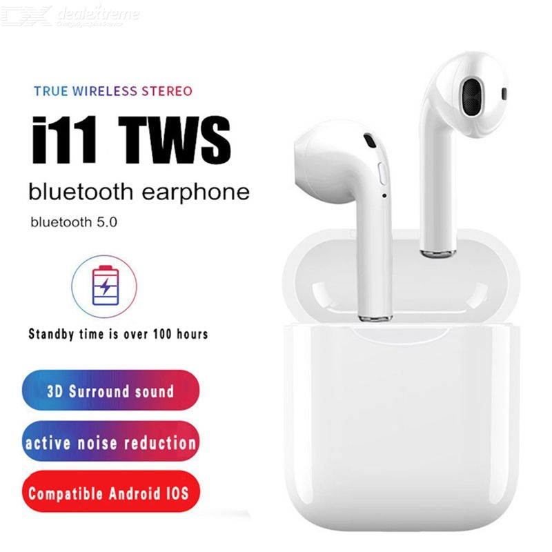 US $4.56 62% OFF i11 TWS Bluetooth 5.0 Wireless Earphones Earpieces Mini Earbuds with Mic for iPhone Android All Bluetooth Devices Bluetooth Earphones