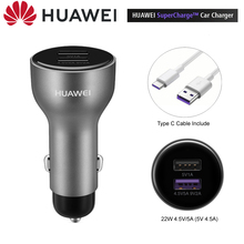 Huawei araba şarjı Huawei 10V 4A Max SuperCharge dahil C tipi kablo CarCharger Huawei Mate 20 Pro onur P20