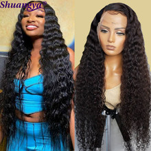Lace Front Wig Loose Deep Wave Lace Front Wig Shuangya Remy Brazilian Human Hair Lace Closure Wigs For Black Women