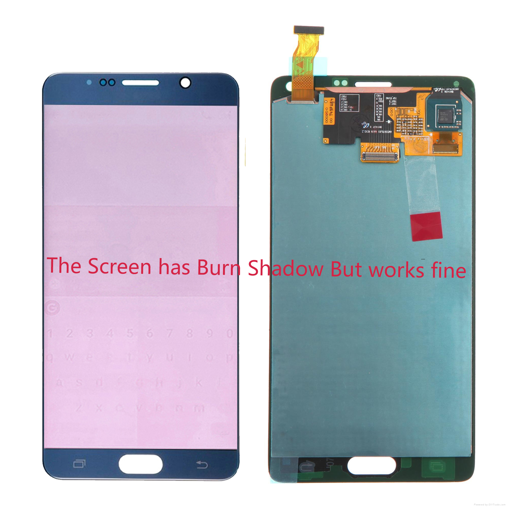 Burn Shadow AMOLED 5.7'' LCD For SAMSUNG GALAXY Note 4 N910A N910F LCD Display Touch Screen Assembly Digitizer