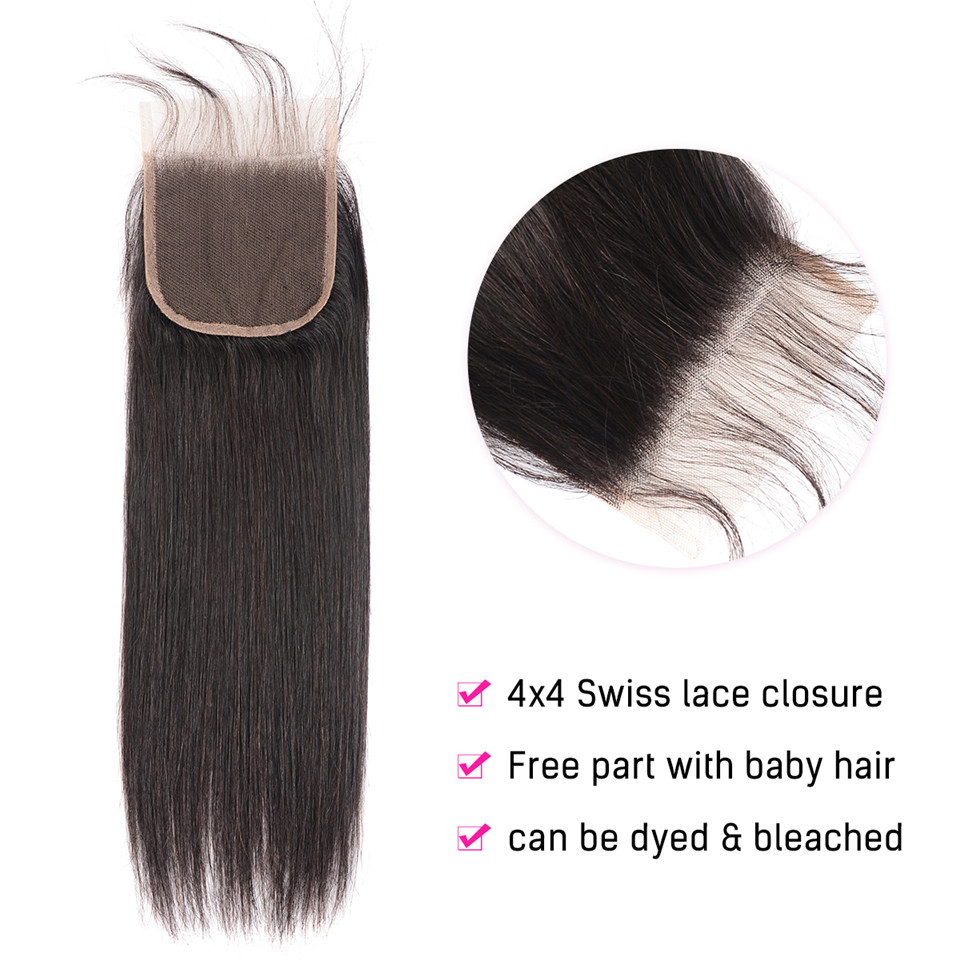 Brazilian Straight Hair Bundles With Closure 3 Bundles With Closure Human Hair Bundles with Closure Queen Brazilian Straight Hair Bundles With Closure 3 Bundles With Closure Human Hair Bundles with Closure Queen Mary Non Remy Hair