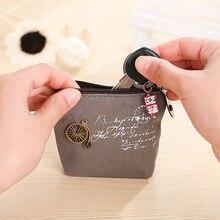 Новый небольшой холст кошелек на молнии ретро мини монета изменение ключа автомобиля мешок маленький мешок денег Леди милые кошелек
