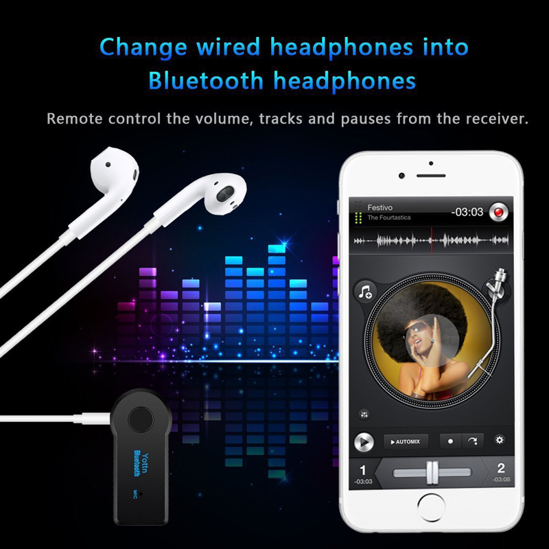 5.0 Bluetooth Audio Receiver Transmitter Mini Stereo Bluetooth AUX USB 3.5mm Jack for TV PC Headphone Car Kit Wireless Adapter 3