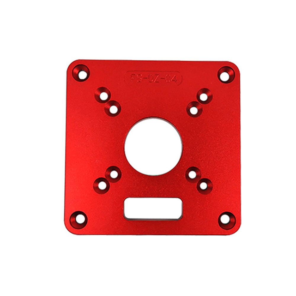 Aluminium Alloy Multifunctional Router Table Insert Plate Ring Screw Flip Board For Drilling And Mounting Router