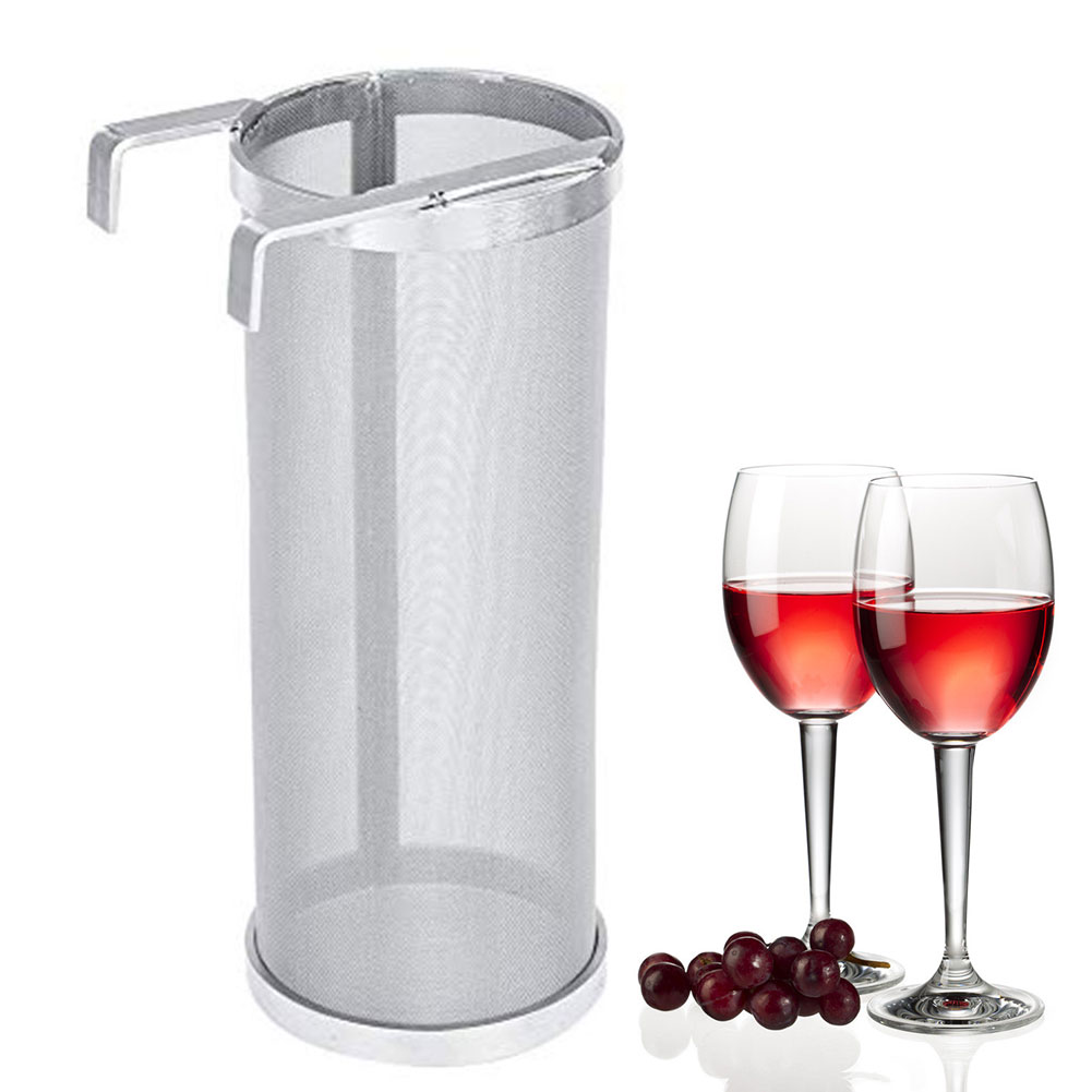 300-400 Micron Brew Filter Strainer Mesh Double Hook Homemade Stainless Steel Tool Drink Beer Hop Accessories Easy Clean