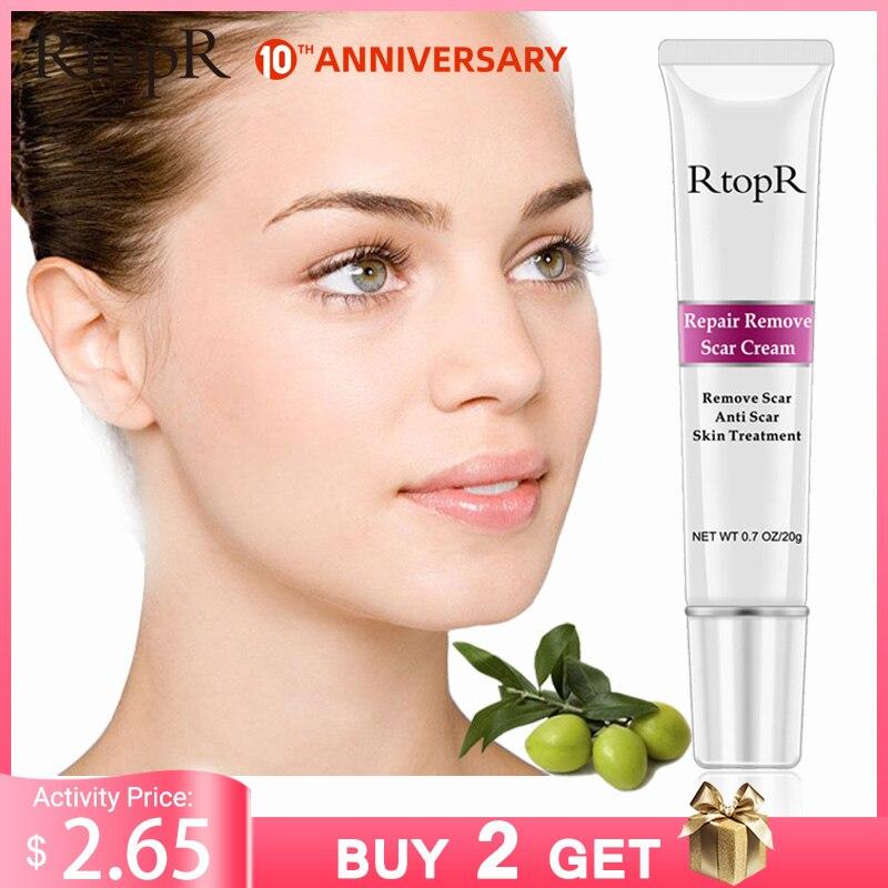 RtopR Acne Scar Stretch Marks Remover Cream Skin Repair Face Cream Acne Spots Acne Treatment Blackhead Whitening Cream Skin Care
