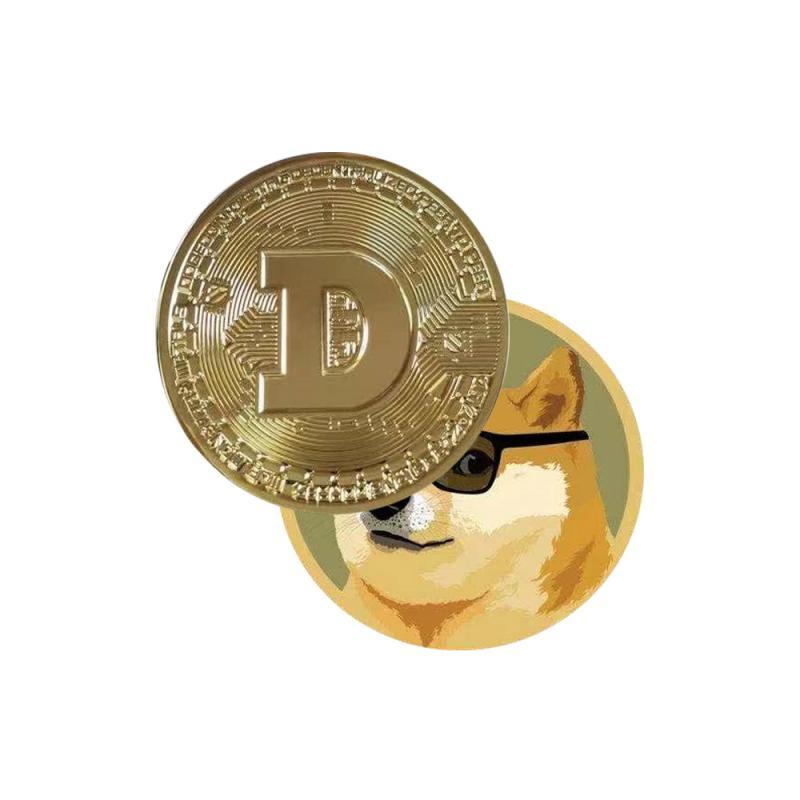 Собака памятная монета цинковый сплав медальон позолоченного серебра металлический значок виртуал Коин Non-монеты иностранных валют Украше...