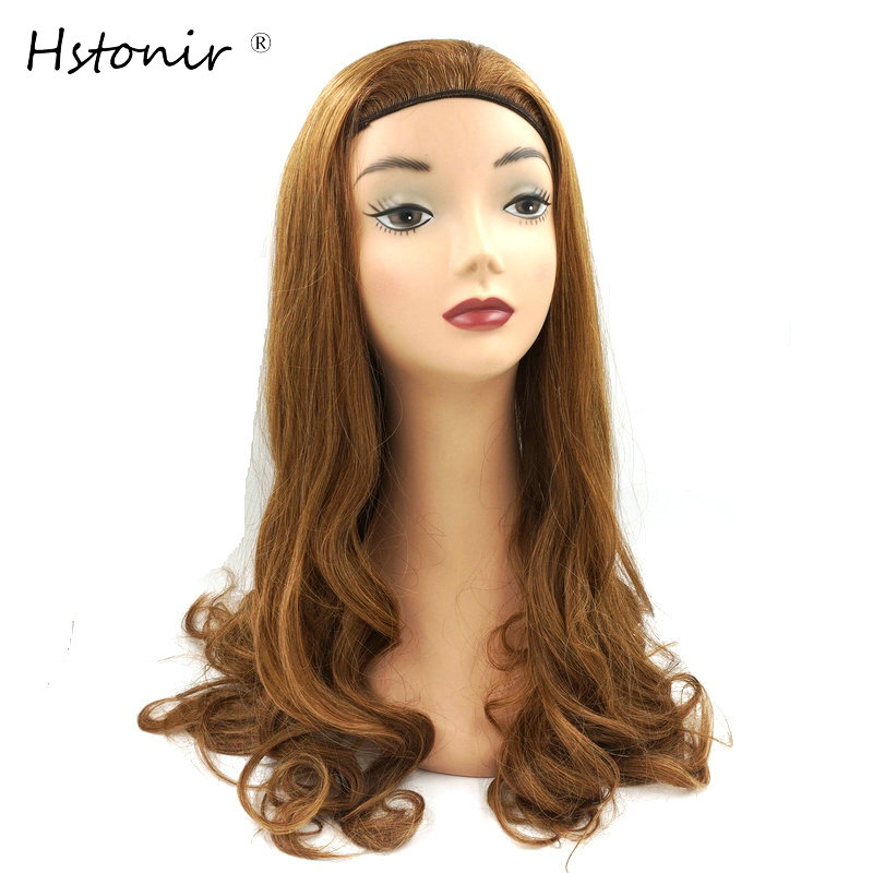 Hstonir Bandfall Jewish Wig Customized Made European Remy Hair Band Fall Kosher Wig