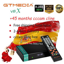 Receptor Gtmedia V8X newest gtmedia V8 nova H.265 DVB-s/s2 CA card slot updated V9 super 3 years Spain cccam cline fast delivery(China)