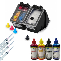 400ML Refill Ink and 62 Refillable Ink Cartridge Kit  Compatible for HP Envy 5640 OfficeJet 200 5540 5740 5542 7640 Printers