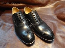 Leather Shoes Cattle Leather Handmade Mens Dress Shoes Men Derby Shoes Handmade Low Top Formal Wear Business Big Toe Leather goodyear handmade shoes men s formal wear business shoes leather men s shoes leather was settled