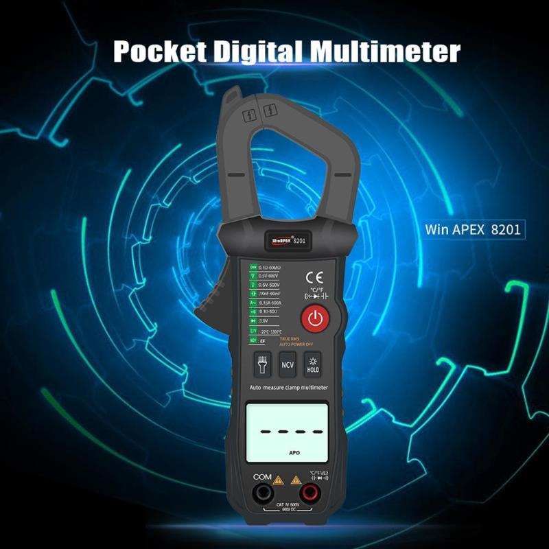 True RMS Digital Clamp Meter AC/DC Current Voltage Automatic Range Multimeter 3 1.5V AAA Battery Powered Supply Oneself