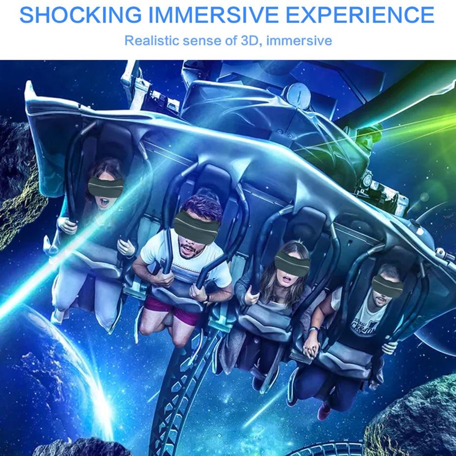 Tout en un casque Actions VR Quad Core immersif 3D lunettes casque de réalité virtuelle pour PS4 une Console de jeu - 6