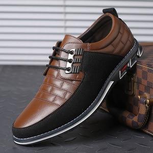 Image 3 - גודל גדול באיכות גבוהה נעליים יומיומיות גברים אופנה עסקי גברים נעליים יומיומיות מכירה לוהטת אביב לנשימה מזדמנים גברים נעליים שחור