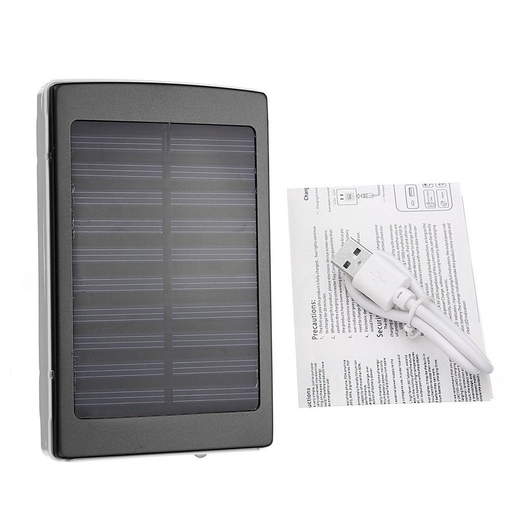 Portable Size <font><b>50000mAh</b></font> Large Capacity <font><b>Solar</b></font> Panel External <font><b>Power</b></font> <font><b>Bank</b></font> Outdoor External Battery Charger for Smartphones USB Cable image