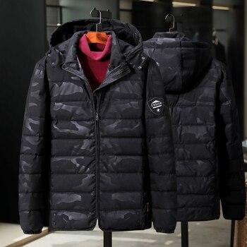 Large size mens cotton overcoat 160kg loose version plus extra large oversized jacket Camouflage coat  12XL 11XL