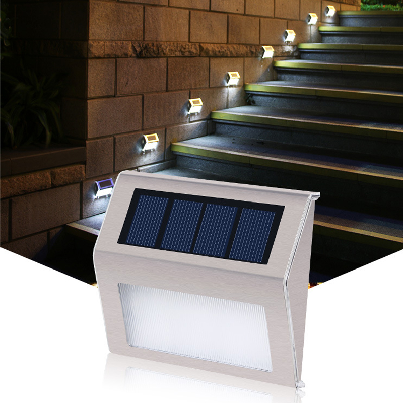 LED Solar Powered Lights Solar Wall Lamp Outdoor Waterproof Garden Decoration Ladder Garland Lamps For Street Plaza