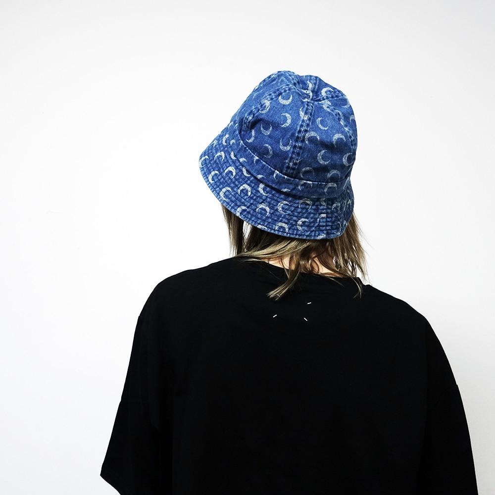 Women Moon Print Bucket Hat Fisherman Cap Luna Gorro Pescador