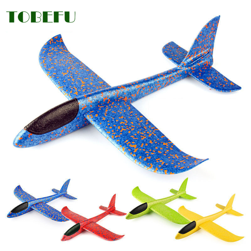 Hand Throw Flying Glider Planes Foam <font><b>Aircraft</b></font> <font><b>Model</b></font> EPP Resistant Breakout <font><b>Aircraft</b></font> Party Game Children Outdoor Fun Gift Toys image