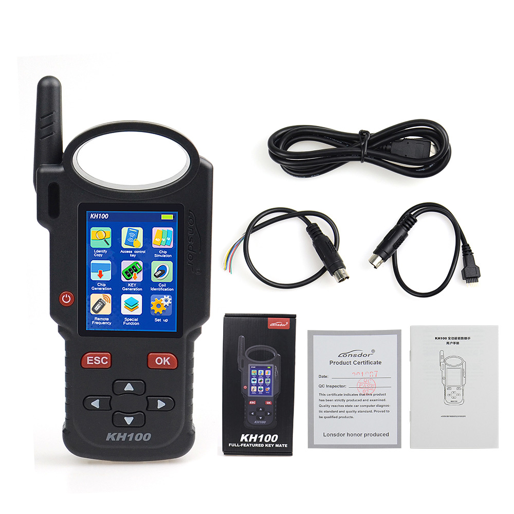 Image 3 - Original Lonsdor KH100 Remote Maker Key Programmer Generate Chip/Simulate Chip/Identify Copy/Remote Frequency with Free shipping-in Auto Key Programmers from Automobiles & Motorcycles