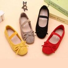 Туфли принцессы для девочек на плоской подошве, дышащие мягкие тканевые классические туфли для вечерние ринки, танцевальные слипоны для ма...