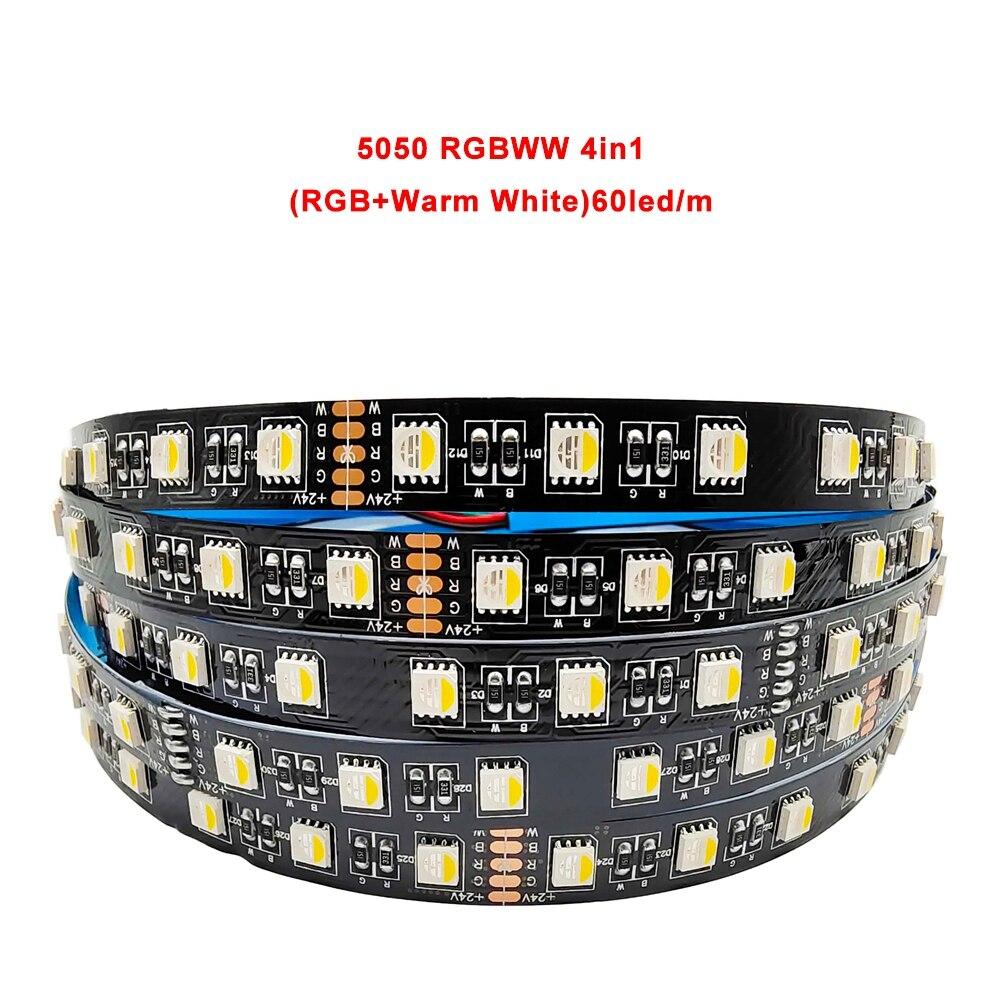 5050 2835 Светодиодная лента 5 CoIors In1 чипа RGB + CCT 12 мм PCB CW + RGB + WW 4In1 Светодиодная лента RGBW/RGBWW FIexibIe лента Iight 12/24V 60/90 СВУ/м
