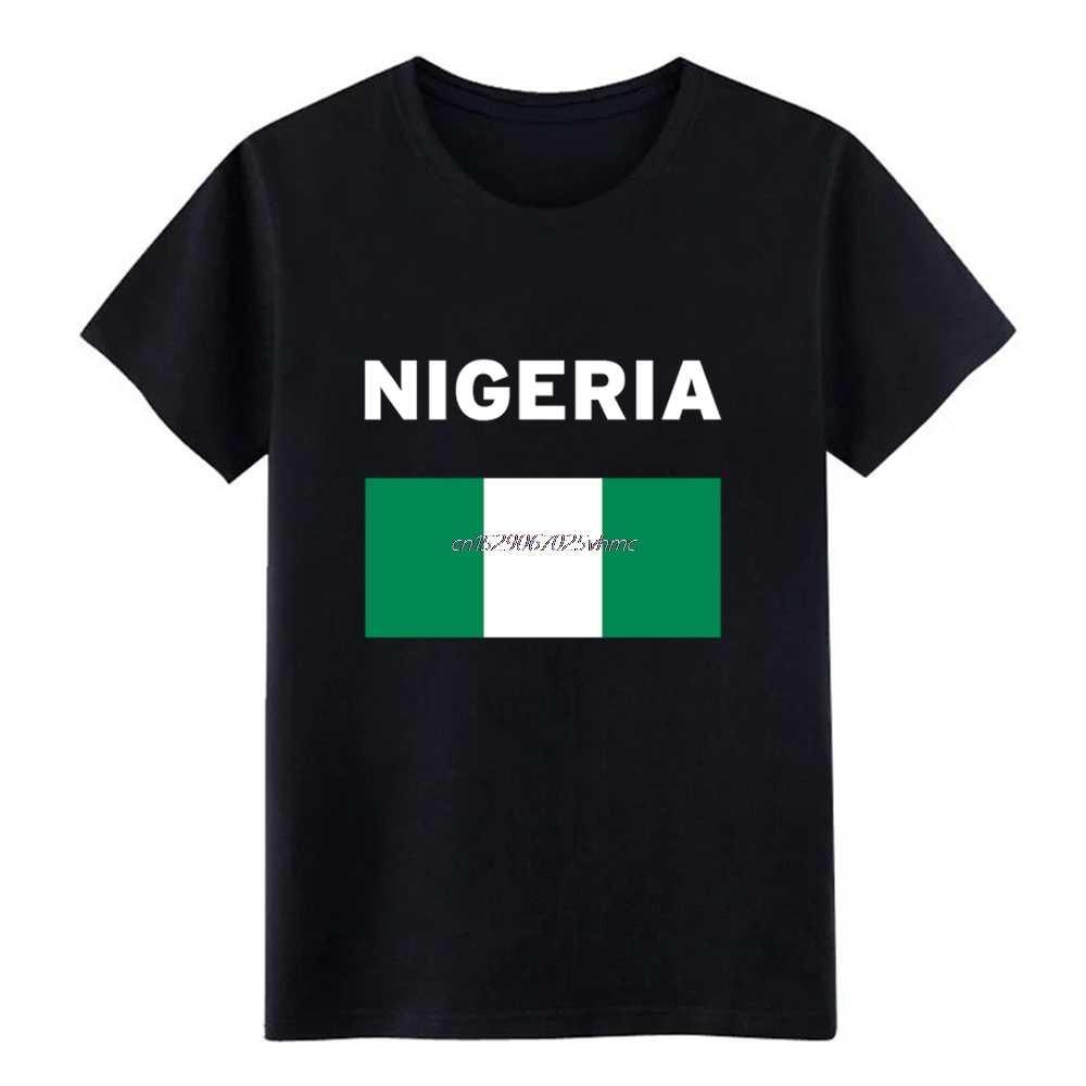 Nam Nigeria Bóng Đá Áo Thiết Kế 100% S-3xl Hình Ảnh Đồ Họa Hài mùa hè Tự Nhiên Áo sơ mi