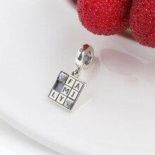 925 стерлингового серебра бисера Новые простые модные новые одинаковые комплекты для семьи игры Подвеска