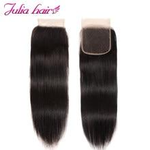 Perruque Lace Closure wig péruvienne lisse – Julia Swiss, couleur naturelle, 8-18 pouces, partie libre, pre-plucked, trois parties du milieu, contactez-nous