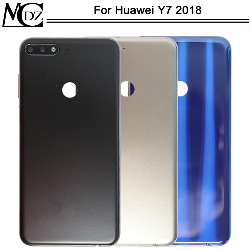 New Y7 2018 Battery Cover For Huawei Y7 2018 / Y7 Pro 2018 / Y7 Prime 2018 Phone Back Rear Housing Case Cover Lid
