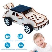 Car-Model Solar-Energy Children Educational-Toys Kids DIY Wood High-Tech-Assembly Birthday-Gift