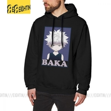 Hunter X Hunter Killua Zoldyck Baka Mens Sweatshirt Funny Cotton Hoodies New Hoodie Shirt