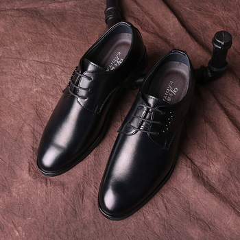 2019 Men business Shoes Genuine Leather Lace up formal dress flats Italian Oxford Man Flat Classic office footwear shoes ghn89