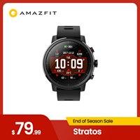 In Lager Globale Version Amazfit Stratos Smartwatch Musik GPS Herz Rate Monitor 5ATM Wasserdicht Männer Im Freien Uhr