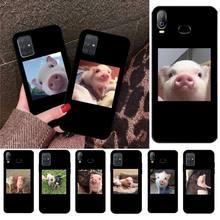 Nette Kleine Rosa Haustier Schwein Bling Nette Telefon Fall Für Samsung Galaxy A01 A11 A31 A81 A10 A20 A30 A40 a50 A70 A80 A71 A91 A51