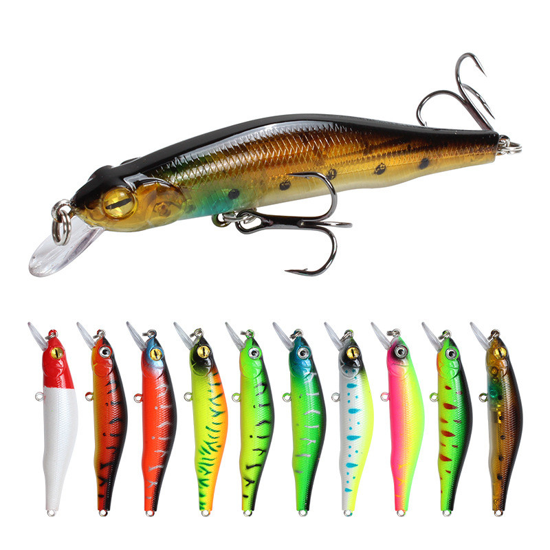 1pcs sinking Minnow Fishing Lure Wobblers Hard Artificial Bait 3D Eyes 8cm 8.5g High Quality Crankbait Plastic Baits Fish Pesca