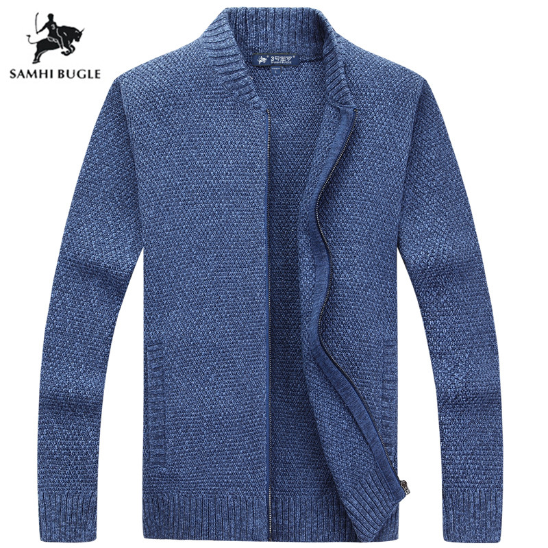 Mens Sweaters for 2019 Autumn Winter Cardigan Sweater Fashion Solid Color Sweater Men Knitwear Slim Fit