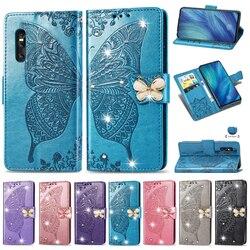 На Алиэкспресс купить чехол для смартфона luxury flip wallet pu leather phone case for vivo x27 iqoo neo y5s y19 y7s y15 shining diamond embossed butterfly stand cases