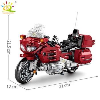 "Конструктор HUIQIBAO ""Туристический мотоцикл"", 1205 шт. 3"