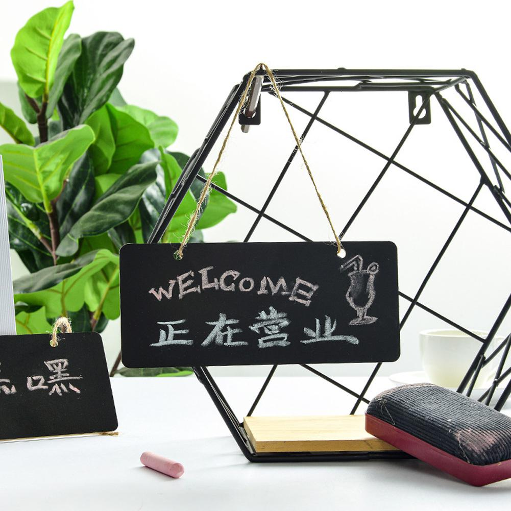 Small Blackboard Hanging Chalk Board Stationery Writing Notice Message Board Mini Chalkboard For Office School