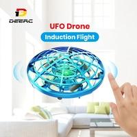 Mini UFO Drone Flying Ball Magic Drone Helicopter 360 ° rotante anti-collisione Mini UFO Drone Toy per Kid Hand Control Quadcopter