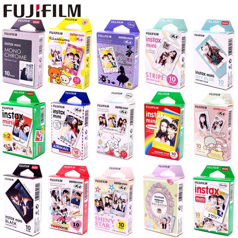 Fujifilm Instax Mini Film en option cadre Photo 10-100 feuille de papier Photo pour Instax Mini 9 Mini 8 instantané Mini 70 90 Film appareil Photo