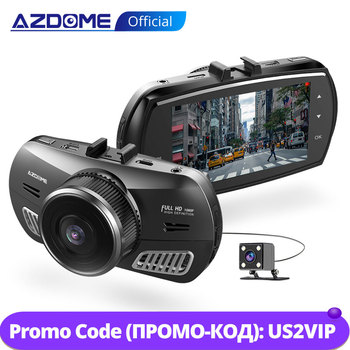 цена на AZDOME M11 3 inch 2.5D IPS Screen Dash Cam Car DVR Recorder HD 1080P Dual Lens Car Video Dashcam Night Vision Dash Camera GPS