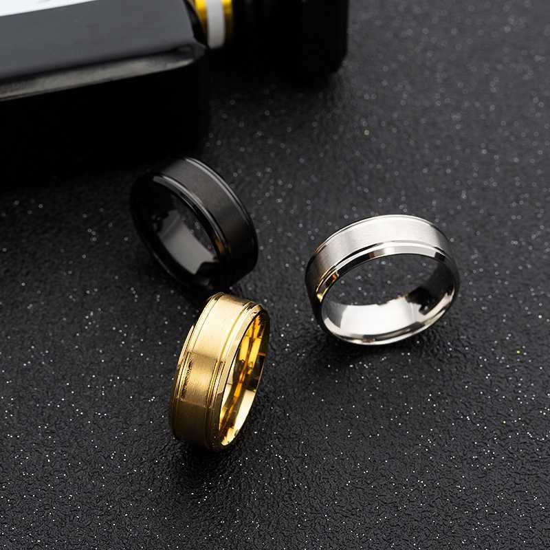 MISANANRYNE แฟชั่น Charm เครื่องประดับผู้ชายแหวนไทเทเนียมแหวนนิ้วสีดำสำหรับ Punk ROCK งานแต่งงาน PARTY ของขวัญ