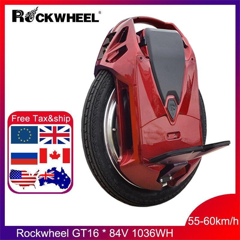 2019 Rockwheel GT16 monocycle électrique 40 + km/h 858WH/1036WH 84V 2000W moteur, 16 pouces une roue scooter vélo électrique en stock