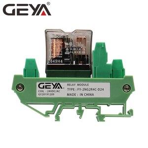 Image 5 - GEYA 2NG2R 4 قناة أومرون وحدة التتابع 2NO 2NC الإلكترونية DPDT التبديل 12 فولت 24 فولت مجلس التتابع