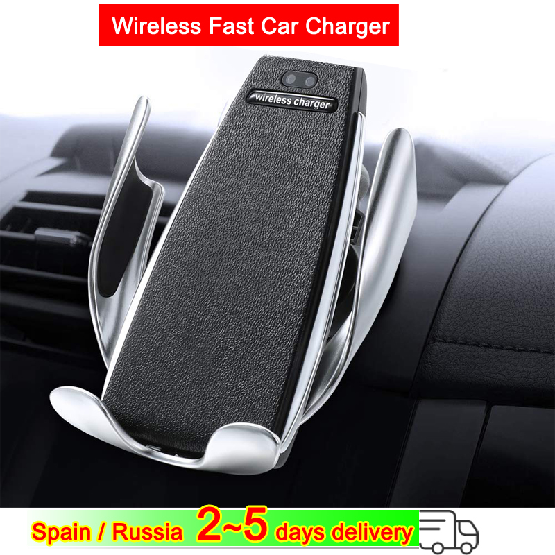 Wireless Car Charger Smart Sensor Fast Charging For iPhone 8/XR For Samsung Galaxy note9 For Xiaomi Mi 9 For Huawei P30 Pro image