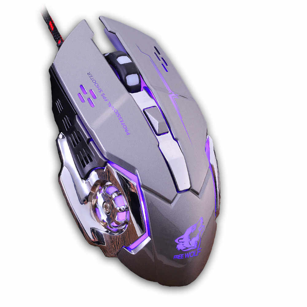 充電式 X8 ワイヤレスゲーミングマウス 2400DPI サイレント LED バックライトの USB 光エルゴノミックゲーミングマウスミュート