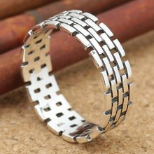 Chain-Rings Jewelry-Accessories Geometry Gift Vintage Mens Punk Link Party-Supplies Motorcycle